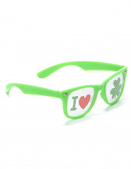 Gafas verdes de San Patricio plástico adulto