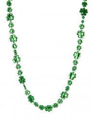 Collar verde trébol San Patricio adulto