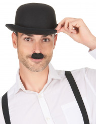 Bigote Chaplin negro adulto
