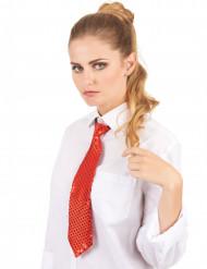 Corbata roja de lentejuelas adulto