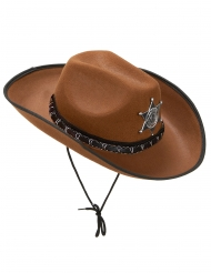 Sombrero sherif marrón claro adulto