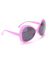 Gafas disco adulto rosa