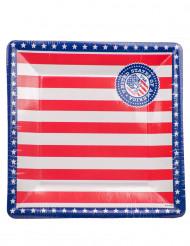 8 Platos USA de cartón