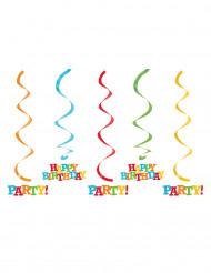 5 Decoraciones colgantes Happy Birthday