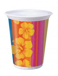 8 Vasos de plástico Hawái 473 ml