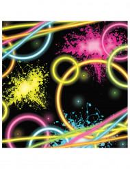 16 Servilletas fluo Glow Party