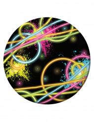 8 Platos pequeños Glow Party