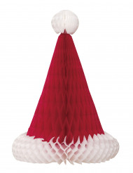 Centro de mesa gorro de Papá Noël 30 cm