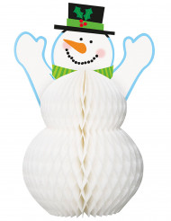 Centro de mesa muñeco de nieve 30cm