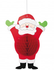 Decoración papel Papá Noel 35,5 cm