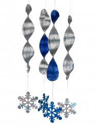 4 decoraciones espiral copos de nieve