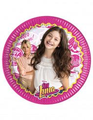 8 Platos de cartón Soy Luna™ 23 cm