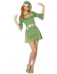 Disfraz elfo verde mujer Navidad
