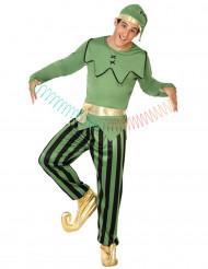 Disfraz de elfo verde hombre Navidad