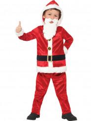 Disfraz de Papá Noel con barriga sonoro niño