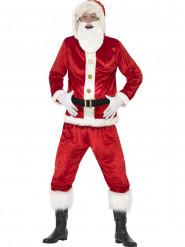 Disfraz de Papá Noel con barriga sonora adulto