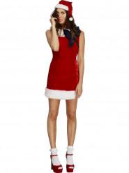 Disfraz vestido rojo sexy con lazo Mamá Noël