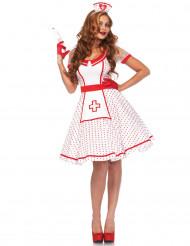 Disfraz enfermera retro mujer