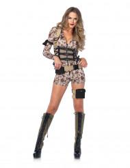 Disfraz sexy militar pixel mujer