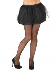 Tutú negro con enagua opaca mujer