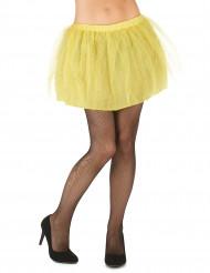 Tutú amarillo con enagua opaca mujer
