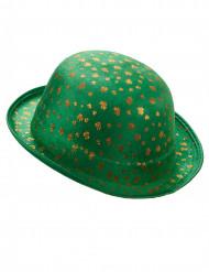 Sombrero bombín San Patricio trébol dorado adulto