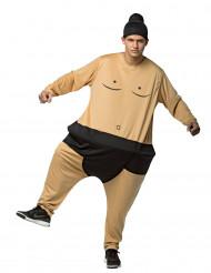 Disfraz de sumo con aro adulto