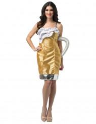 Disfraz pinta de cerveza mujer