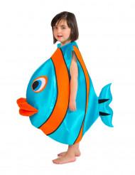 Disfraz de pez azul infantil