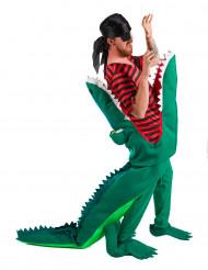 Disfraz pirata y cocodrilo adulto