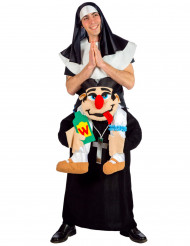 Disfraz adulto monja sobre cura