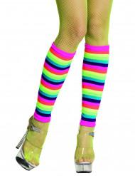 Calentadores arco iris fluo adulto