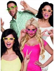 4 Gafas fluorescentes adulto