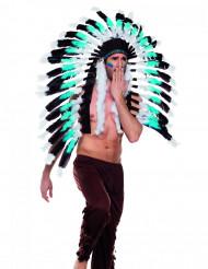 Cofia jefe indio azul adulto