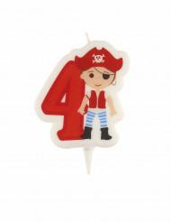 Vela cumpleaños pirata cifra 4