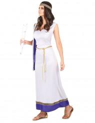 Disfraz de romana larga violeta mujer