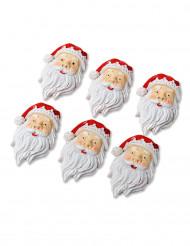 6 Decoración Papá Noel adhesivo de resina