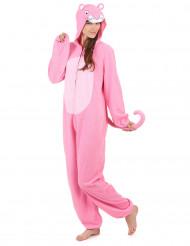 Traje con capucha pantera rosa mujer