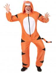 Traje de tigre con capucha hombre