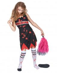 Disfraz de animadora zombie niña