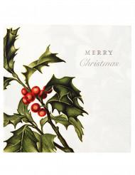 20 Servilletas papel Merry Christmas 33x33 cm