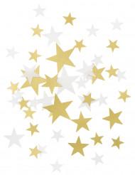 Confetis estrella dorado y blanco
