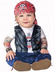Disfraz motero para bebé-Clásico