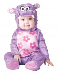 Disfraz de hipopótamo violeta para bebé-Clásico