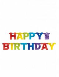 Guirnalda Happy Birthday multicolor 219 cm