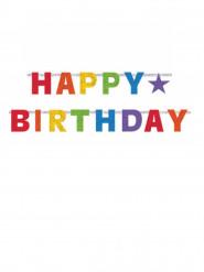Guirnalda articulada Happy Birthday multicolor