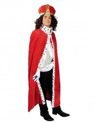 Capa rey rojo 130 cm adulto