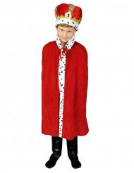 Capa rey rojo 80 cm niño