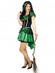 Disfraz de bruja verde mujer