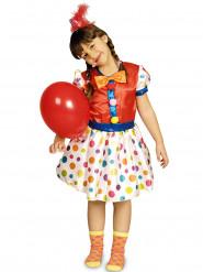 Disfraz payaso puntos multicolores niña